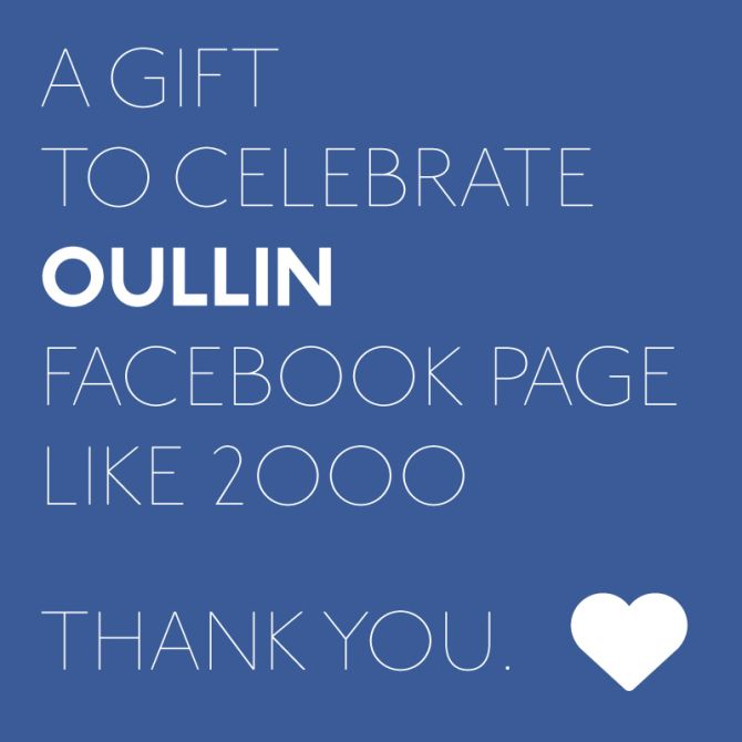 OULLIN Facebook page has reached 2000!